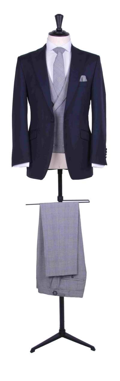 Contrast slim fit suit