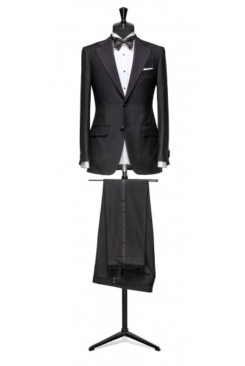 Black dinner suit made to measure