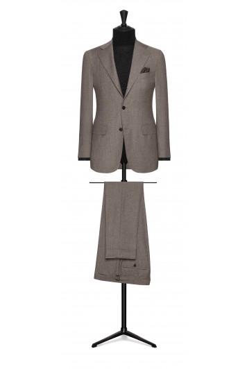 brown-grey faux uni wool wedding suit