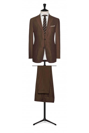mid brown brushed comfort wool wedding suit