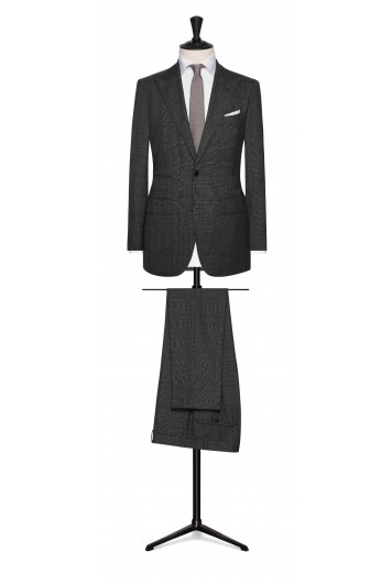 dark grey fine wool glencheck wedding suit