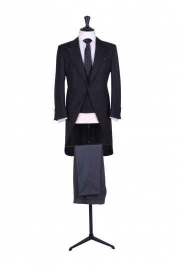 black slim fit hire suit