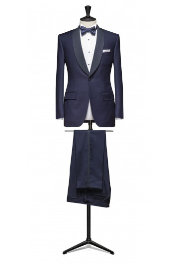 Midnight blue dinner suit made to measure