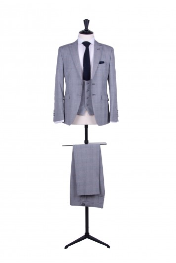 Slim fit Prince of Wales wedding suit hire