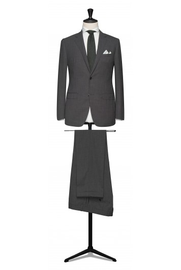 Mid grey pure wool made to measure grooms suit