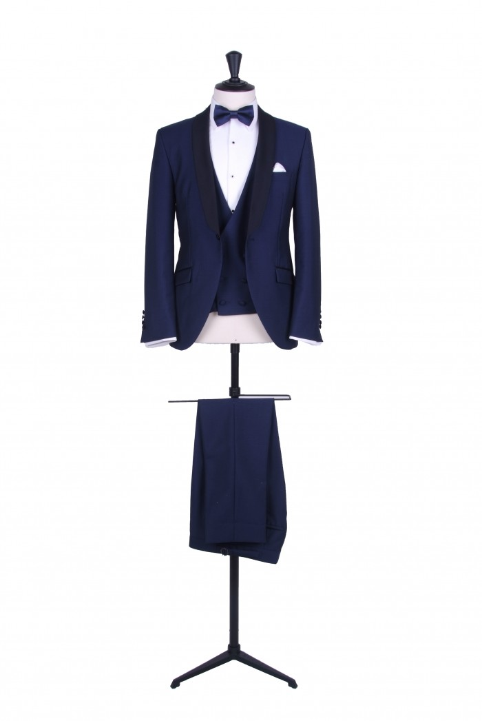 89c1186bd03 Slim fit royal blue dinner suit hire - Anthony Formal Wear