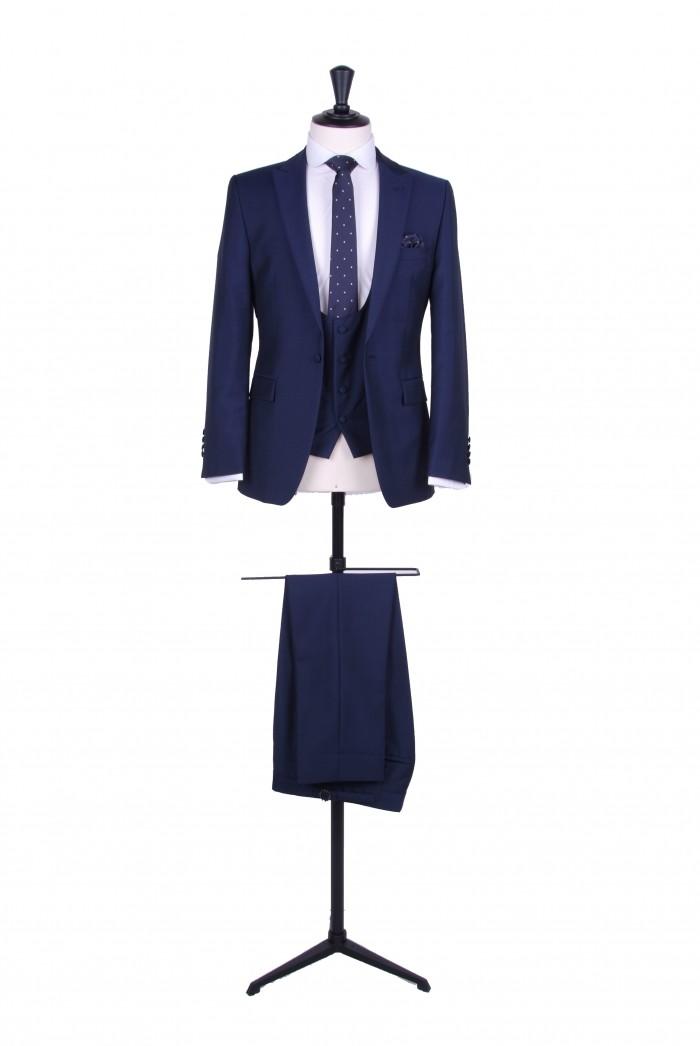 Slim fit royal blue wedding suit hire - Anthony Formal Wear