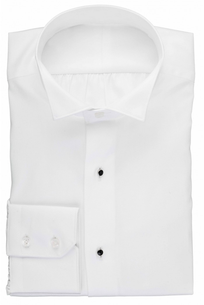 White Wing Collar Dress Shirt With Studs Anthony Formal Wear