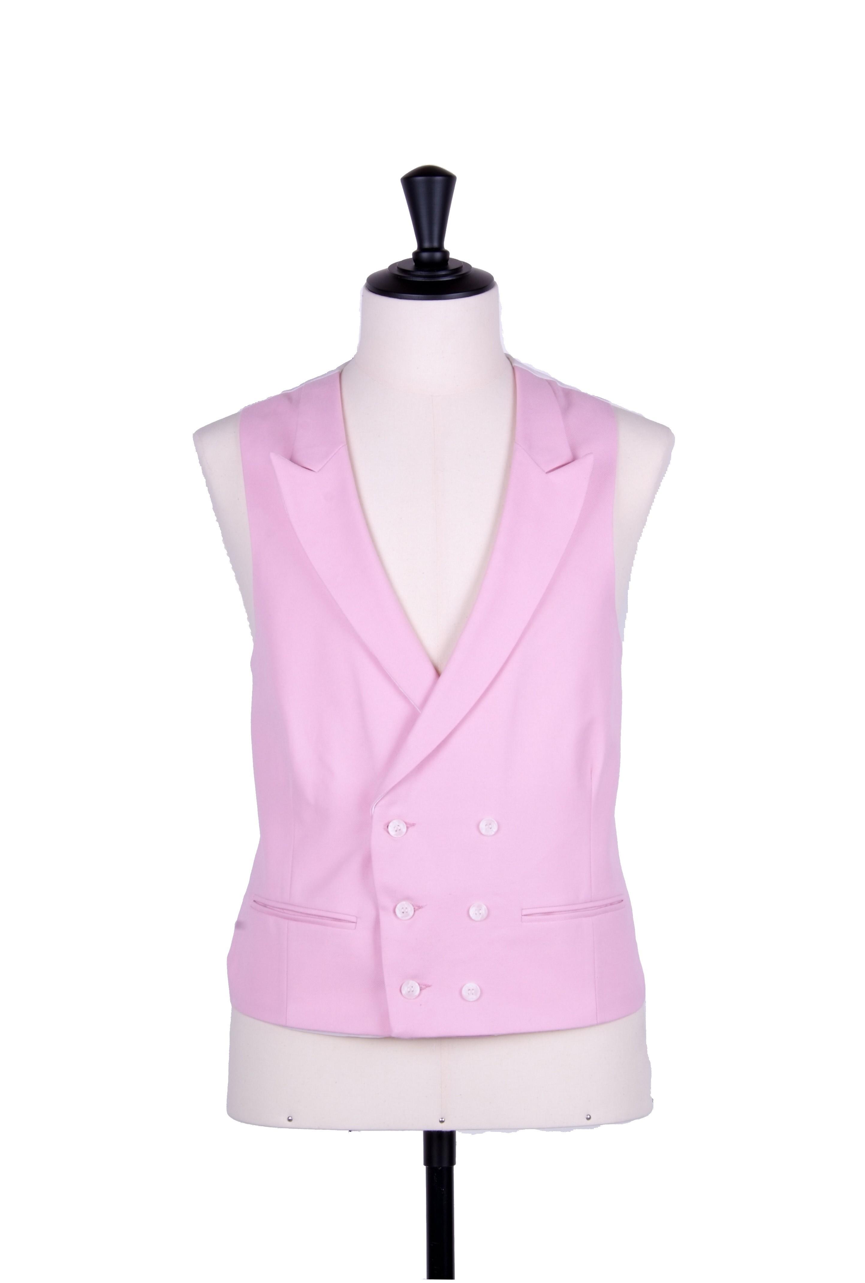 Ascot Pink Wedding Waistcoat Db Anthony Formal Wear