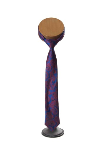 Paisley royal blue red Grooms wedding tie