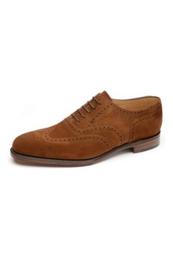 Loake buckingham brown suede brogues