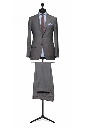 Grey pinstripe pure wool suit made to measure grooms suit
