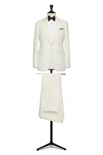 Cream dinner suit made to measure