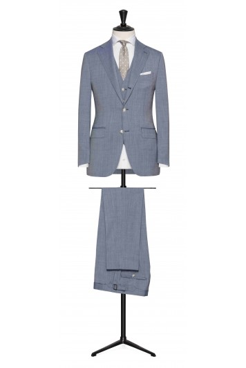 Light Blue-White rustic tropical made to measure suit