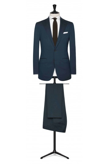 Petrol wool stretch made to measure suit