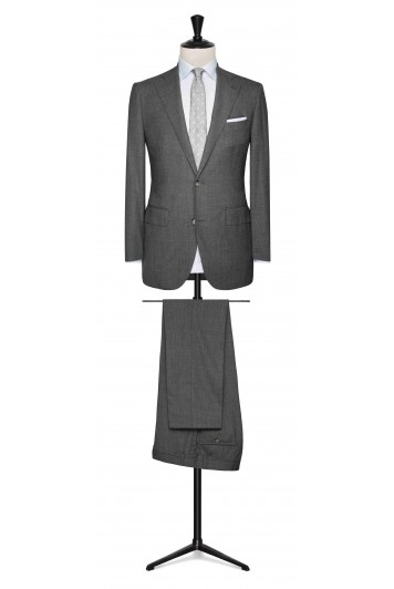 Mid Grey mouliné made to measure suit