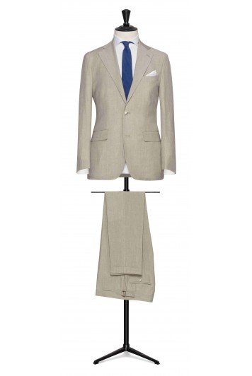 Sand linen-wool-silk made to measure suit