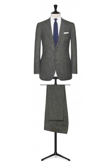 Mid Green linen-wool-silk made to measure suit