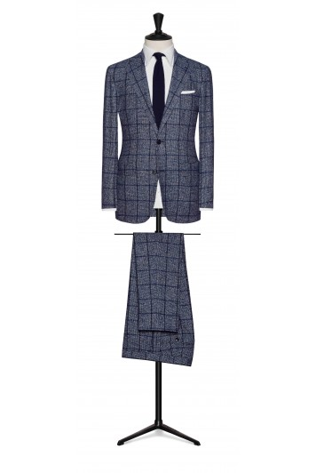 midnight blue houndstooth grooms suit