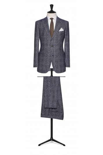 dark blue-brown wedding suit