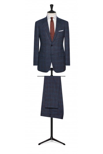 grooms glencheck suit