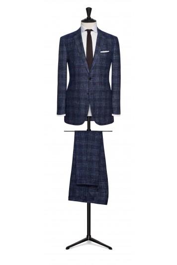windowpane check wedding suit