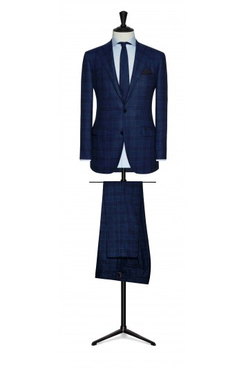 grooms tweed check wedding suit