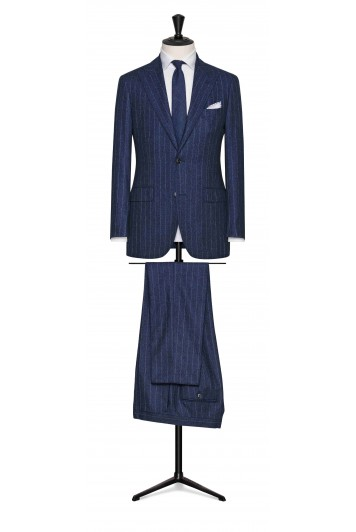 grooms chalk stripe suit