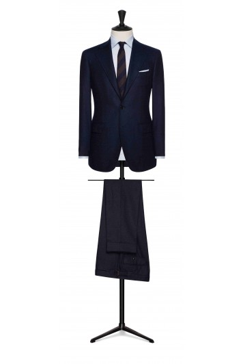 mixed blue faux uni wool grooms wedding suit