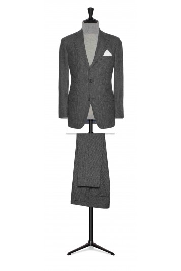 mid grey-white fine striped wool wedding suit