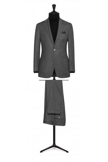 dark grey faux uni wool wedding suit