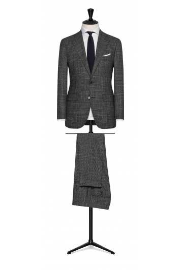 mixed grey wool-silk birdseye wedding suit