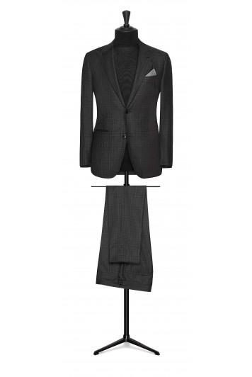 dark grey-charcoal grey glencheck wedding suit