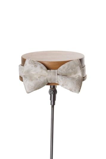 Antique ivory wedding bow tie