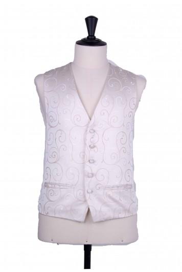 swirl antique ivory wedding waistcoat