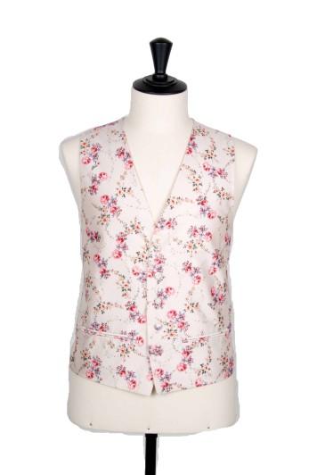 Antique ivory Grooms wedding waistcoat vintage floral