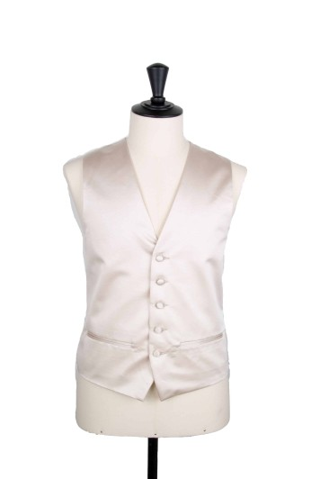 Antique ivory satin Grooms wedding waistcoat
