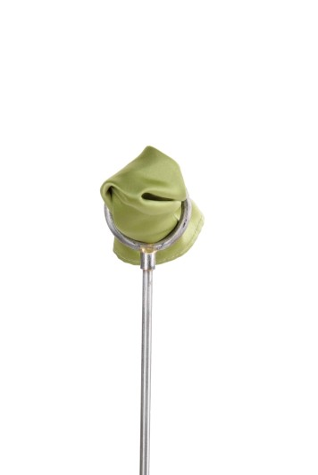 Apple green satin wedding pocket square