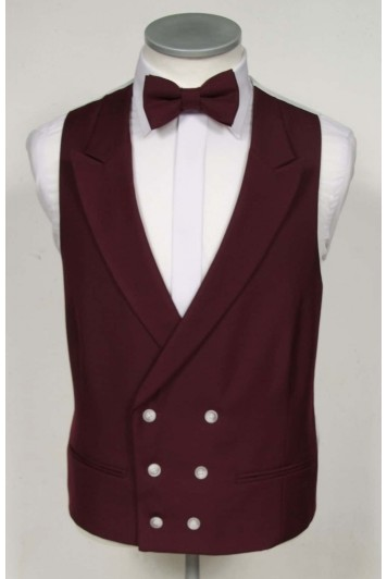 burgundy waistcoat groom wedding