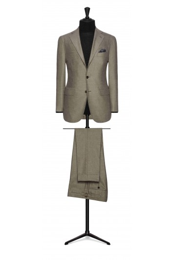 beige brushed comfort wool wedding suit