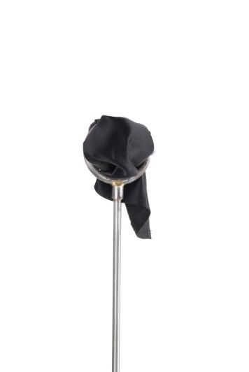 Black satin Grooms wedding pocket square