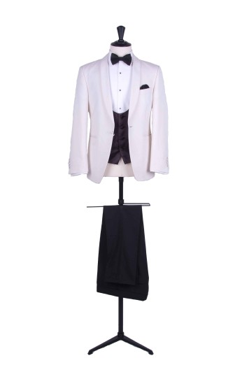 Slim fit cream DJ wedding hire suit