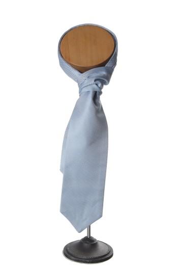 grooms cravat blue oxford