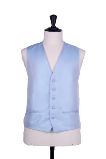 Blue Oxford weave wedding waistcoat