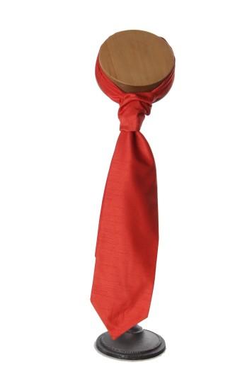 Orange grooms wedding cravat