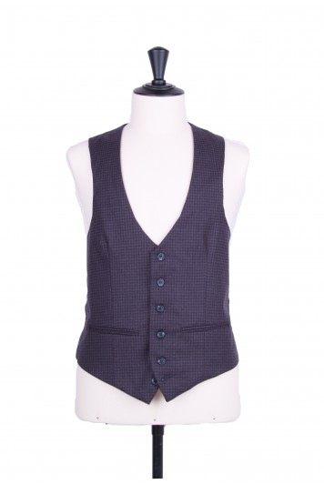 Grooms wedding waistcoat brown checked
