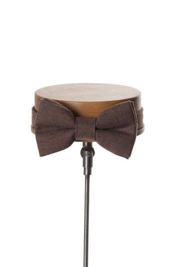 Ascot beige Grooms wedding bow tie