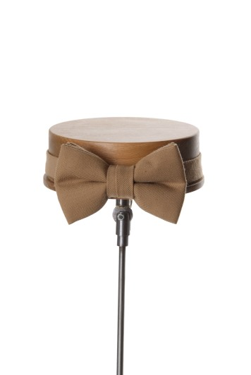 Ascot buff classic wedding bow tie