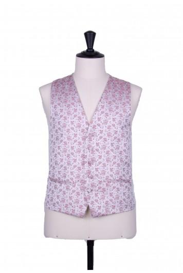 Burgundy Grooms wedding waistcoat floral