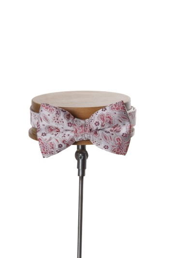 Grooms wedding bow tie burgundy
